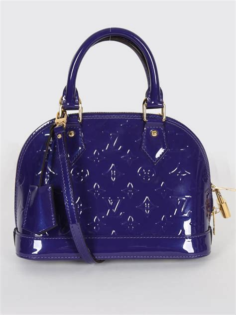High Quality New Collection New Alma Bb New Louis Vuitton louis vuitton alma bb vernis leather blueberry luxury bags
