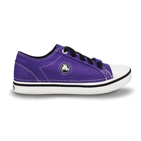 crocs hover sneak metallic ultraviolet retro styled classic sneaker with a metallic