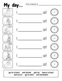 free coloring pages of daily routine worksheet
