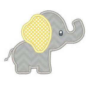 elephant applique template baby elephant applique embroidery design instant