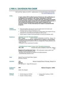 Resume Format For Nurses by Nursing Resume Templates Easyjob Easyjob