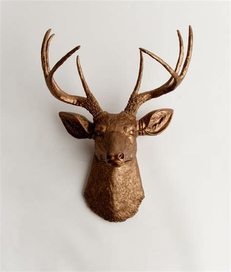Stags Head Home Decor by The Bennett Faux Taxidermied Deer Head By White Faux