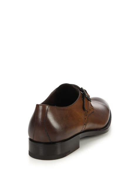 zegna shoes ermenegildo zegna burnished leather monk shoes in