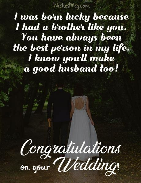 Wedding Wishes for Brother   Congratulations Messages