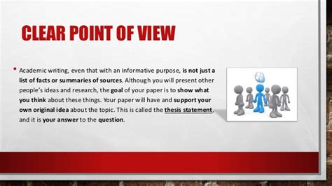 The Academic Point Of View principles of academic writing