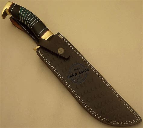 Handmade Bowie Knife - best damascus bowie knife custom handmade damascus steel