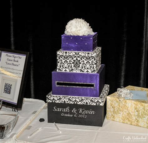 Wedding Box Bridal by Wedding Card Box 4 Tier Fabric Covered Crafts Unleashed