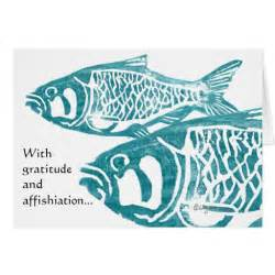 fish gratitude greetings thank you cards zazzle