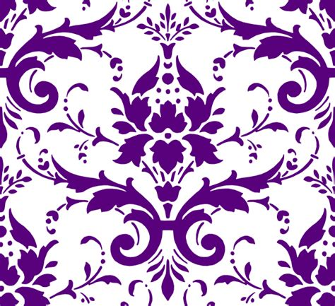 Hawaiian Window Curtains Purple Damask Clip Art At Clker Com Vector Clip Art