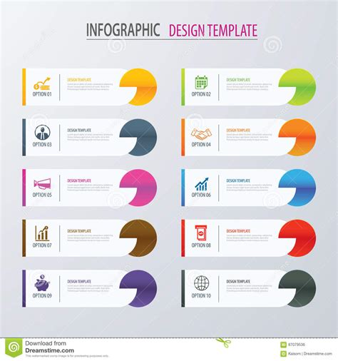 Modern Tab Index Infographic Options Template With Paper Sheets Stock Vector Illustration Of Infographic Layout Template