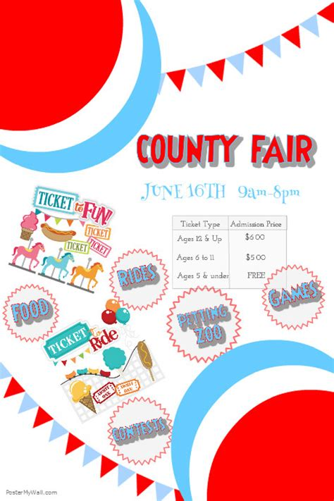 fair flyer template free county fair poster postermywall