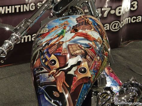 Motorrad Nyc by Cool Airbrush From Motorcycle Show Nyc 2011