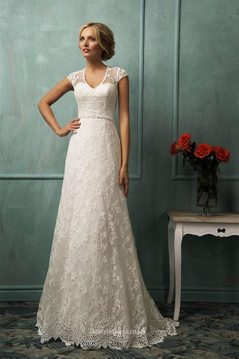 wedding dresses with sleeves long lace cap sleeve bhldn vintage a line cap sleeves floor length long tail lace