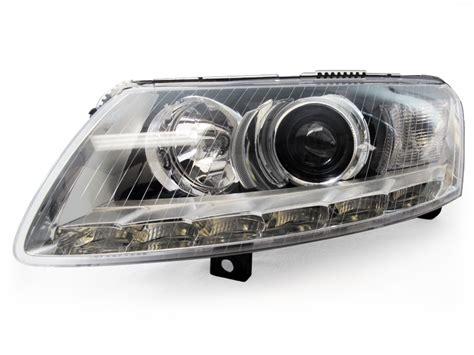 audi a6 c6 led headlights depo 05 08 audi a6 c6 chrome bi xenon projector led