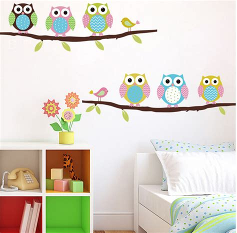 Beli 1 Gratis 1 Wallpaper Stiker Dinding Pohon Burung Wall Sticker aliexpress beli burung hantu di pohon stiker dinding untuk kamar anak anak dekoratif