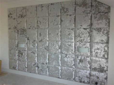 ta da feature wall silver crushed velvet wall tiles   home pinterest crushed