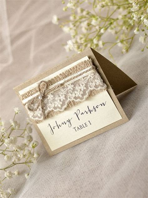 Handmade Place Cards For Weddings - best 25 rustic place cards ideas on wedding