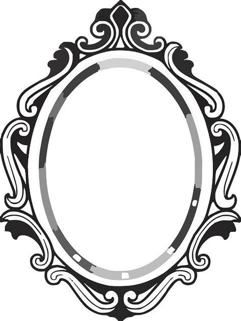drawing mirror frame clipart panda  clipart