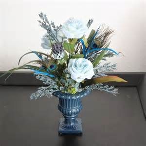 Dining Room Table Floral Arrangements Handmade Silk Flower Arrangement Home Office Decor