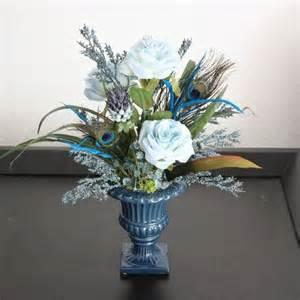 handmade silk flower arrangement home office decor