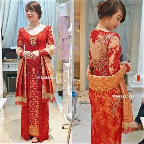Kebaya Payet Raya by Model Vera Kebaya Warna Merah Modern Terbaru Fav
