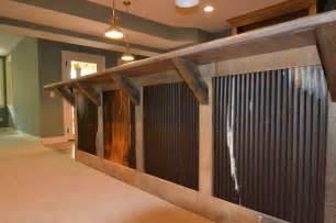 Galvanized Barn Tin Custom Residence In Westfield 206 Rustic Basement