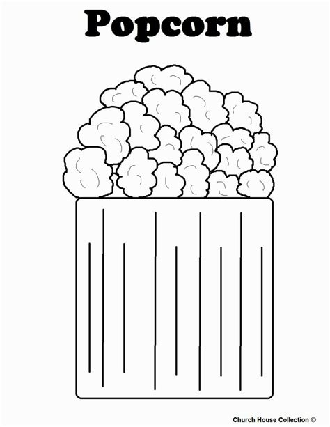 Popcorn Coloring Pages Printable Coloring Home Coloring Sheets For Preschoolers L