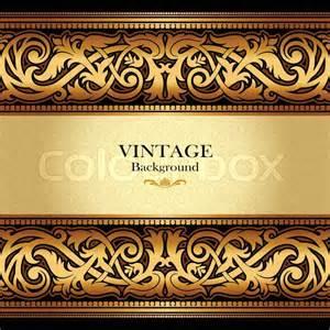 vintage gold background antique victorian ornament