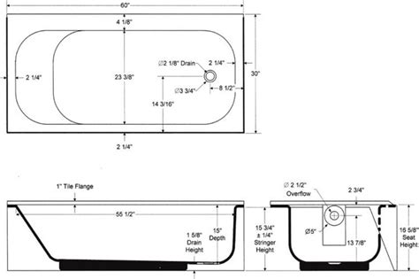 standard bath tub dimensions tips http abirooms com