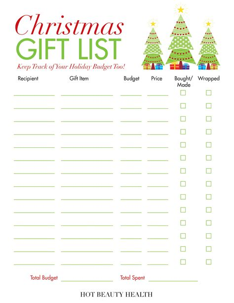 printable christmas gift list holiday gift guide 2017 gift ideas for women men kids