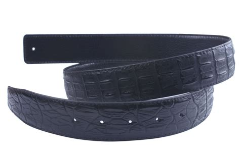 crocodile pattern mens leather belt 3 5cm without buckle