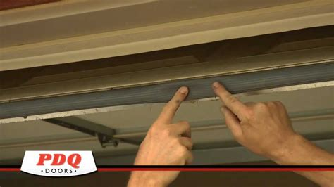 How To Seal The Bottom Of A Garage Door Garage Door Not Sealing Garage Door Weather Seal Options Pdq Doors Cincinnati Ohio