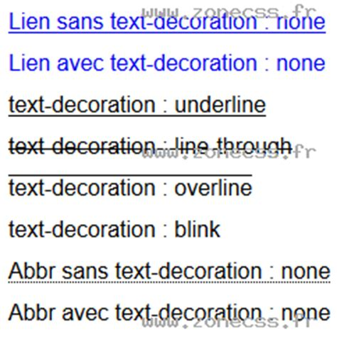 Text Decoration Blink by Text Decoration Css Exemple De Code Zone Css