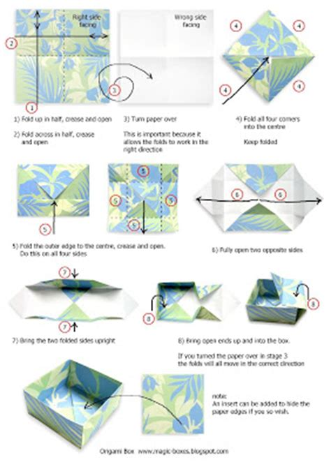 How To Make A Paper Box With Lid - magic boxes origami box with wrap lid tutorial
