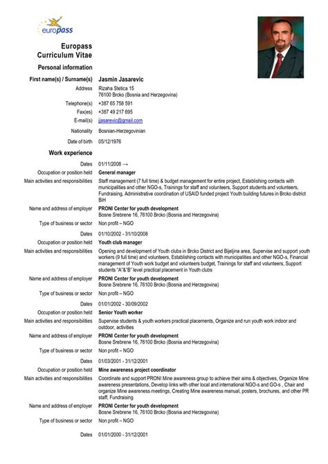 Cv Template Europass 25 Best Ideas About Europass Cv On Design Cv Mod 232 Le De Curriculum Vitae D Acteur