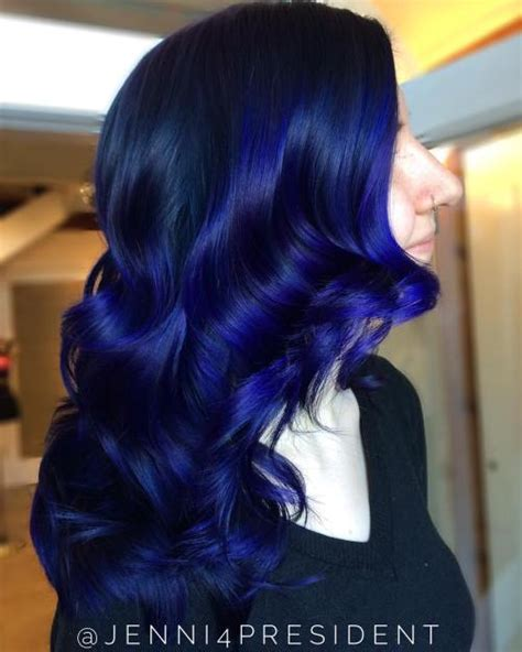 Black And Blue Hairstyles by 20 Blue Hairstyles That Will Brighten Up Your Look