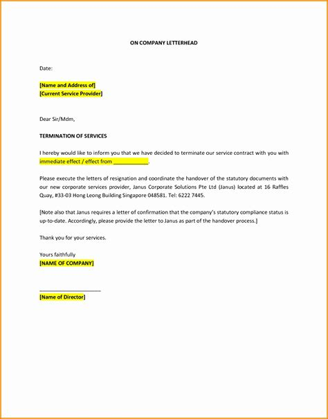termination letter format in uae 10 sle of termination letter of service besttemplates