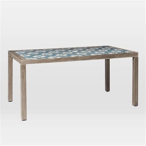 Tiled Dining Table Mosaic Tiled Dining Table West Elm