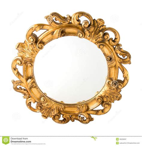 11 Artistic Shouse House round carved wood gilded wall mirror royalty free stock