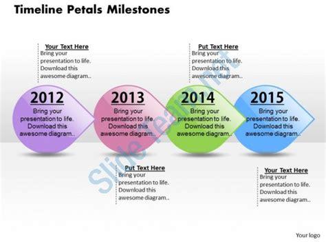 Timeline Petals Milestones Powerpoint Template Slide Presentation Graphics Presentation Milestone Presentation Template