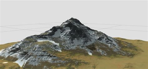 mountain models terrains snow mountain 3d model