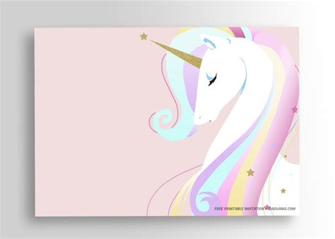 free printable birthday card unicorn free printable unicorn birthday invitation template