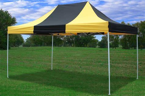 10x15 Gazebo 10x15 Pop Up Canopy Tent Gazebo Ez 2 Colors Black