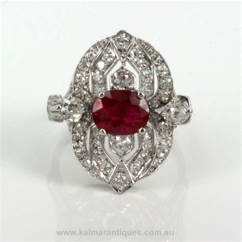 antique ruby ring bling