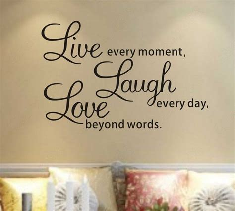 live laugh stickers for wall live laugh wall quotes quotesgram