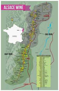 wine highway map alsace vineyard images