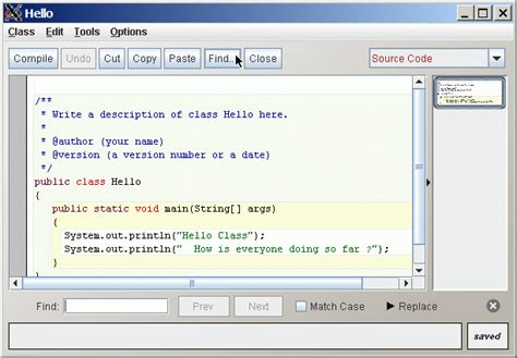 pattern programs in bluej enter the search text pattern and click next