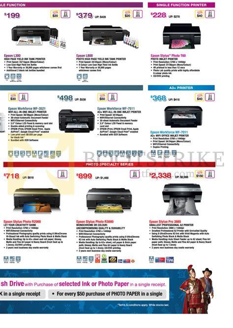 Printer Epson Stylus L300 Epson Printers L300 L800 Stylus Photo T60 Workforce Wf