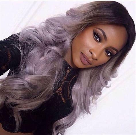 purple grey hair ideas  pinterest silver