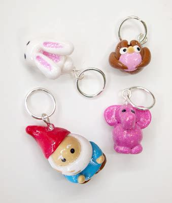 Bunny Gnome Pink fancy tiger crafts stitch markers and crochet hooks handmade in colorado